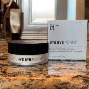 New IT Cosmetics bye bye pores airbrush powder